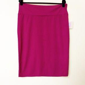 LuLaRoe Cassie 2x Pink Skirt